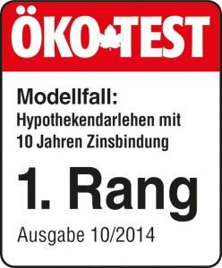 ÖKO-TEST hatfür das Jahr 2014 Baufinanzierungskonditionen getestet und ACCEDO in 4 (von 5) Kategorien die Bestnote verliehen